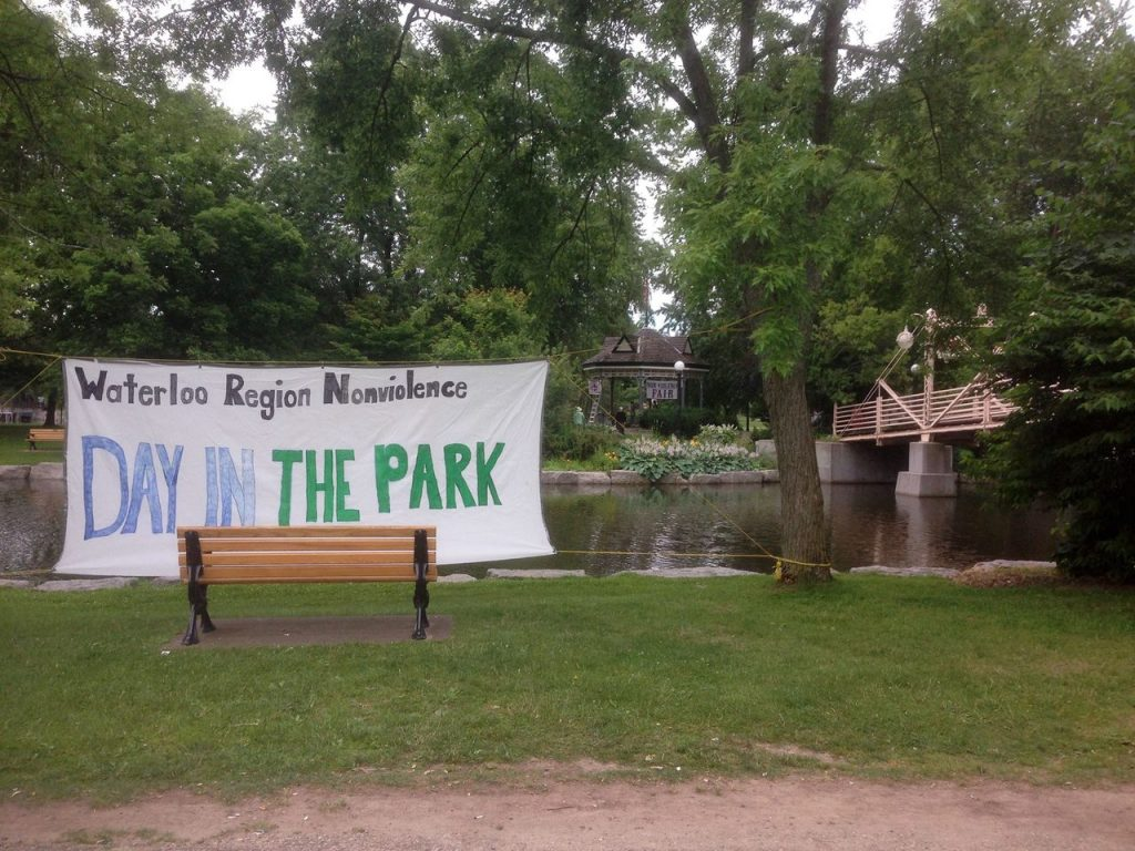 The Banner Is Up: Waterloo Region Nonviolence Day In The Park