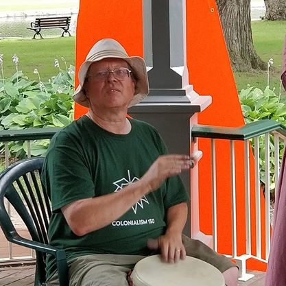 Bob Jonkman playing the Djembe drum