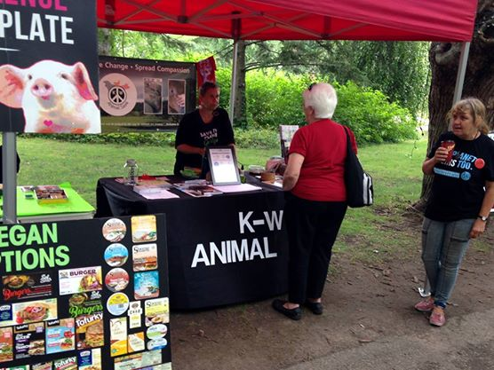 The KW Animal Save booth