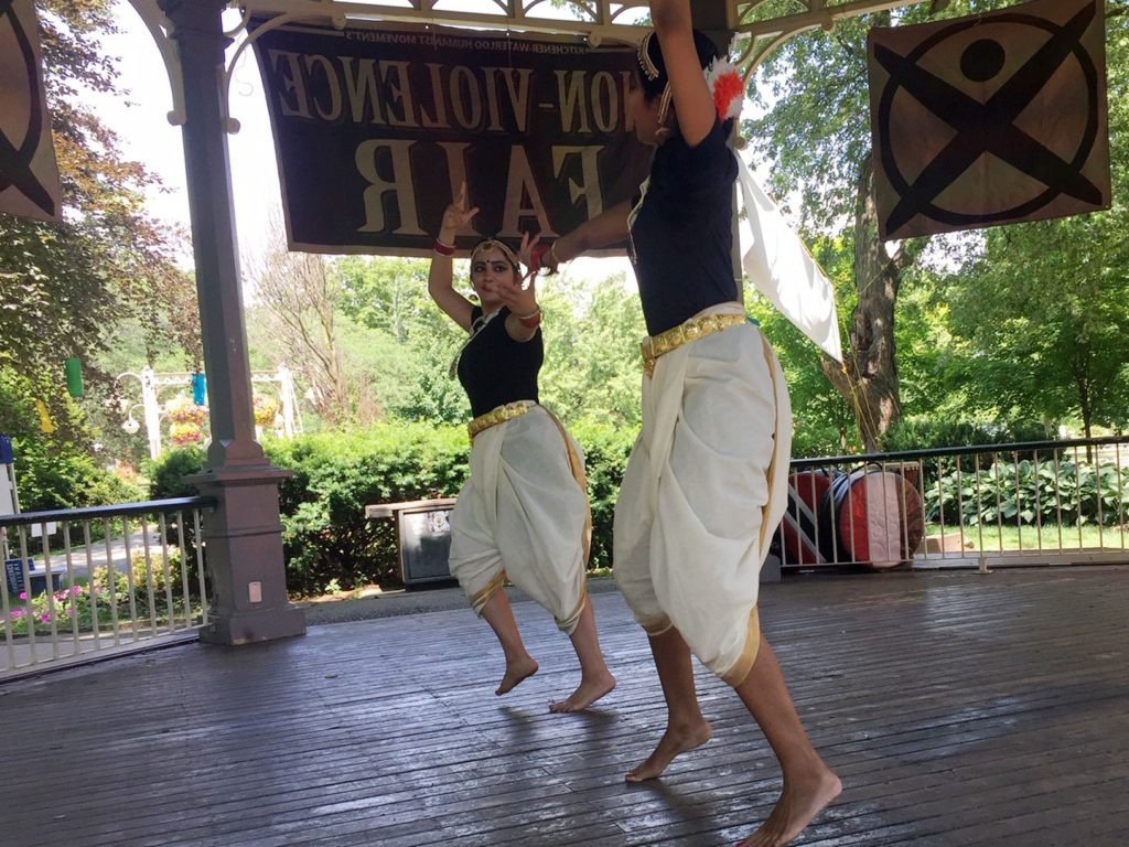 Two dancers in the Gazebo