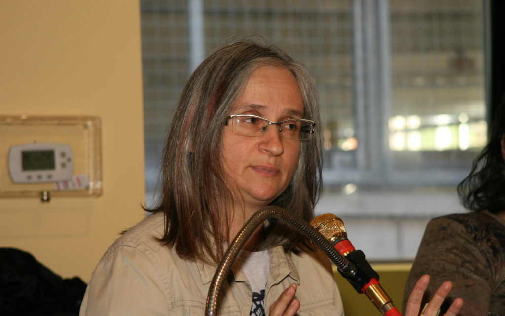 Aleksandra Petrovic Graonic at the microphone