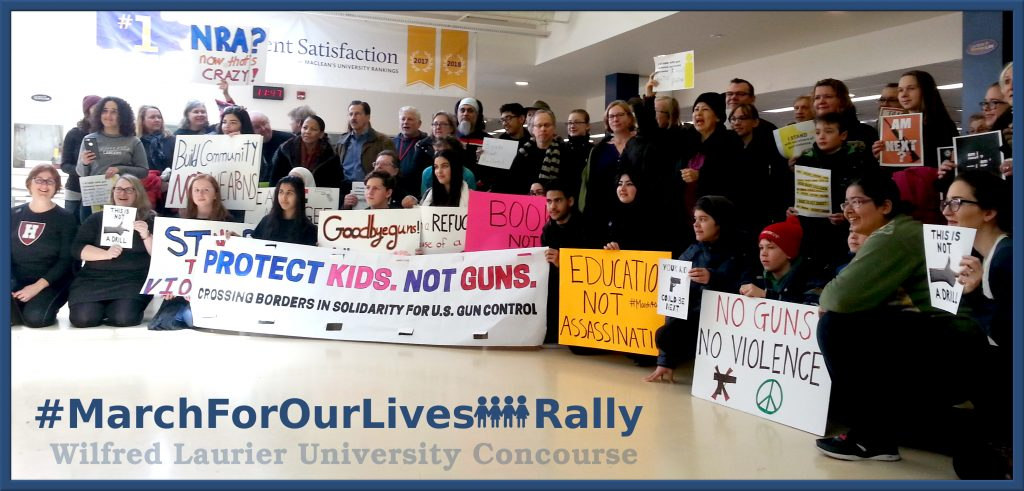 March For Our Lives Rally, Wilfrid Laurier University Concourse
