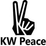 KW Peace (letters KW in the shape of the handsign for peace)